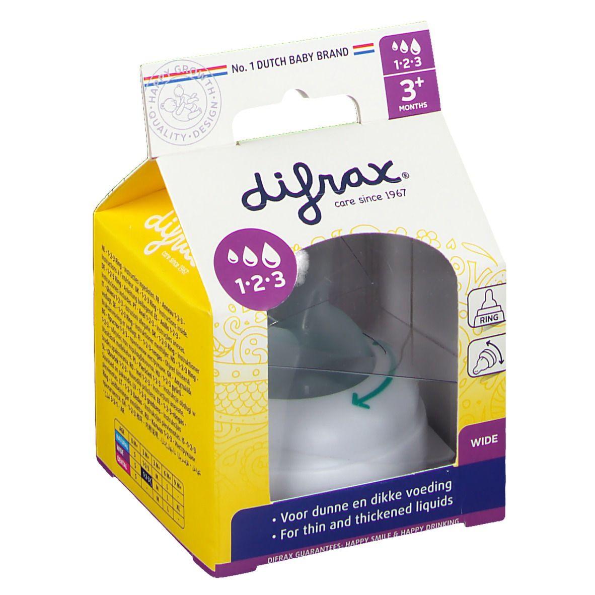 Difrax® Anneau 1-2-3 Wide pour le biberon S