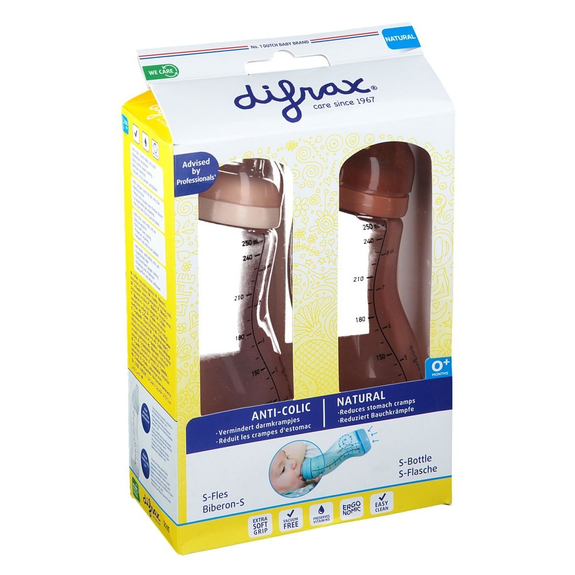 difrax® Anti-Colic Biberon S Natural 170 ml