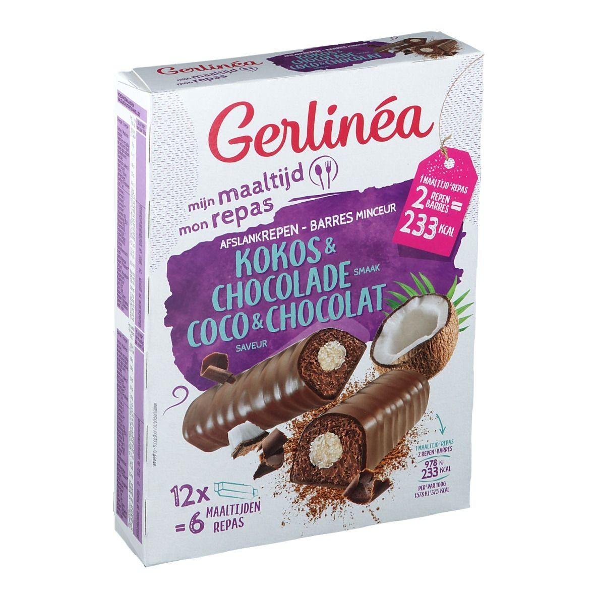 Gerlinéa Mon Repas Barres Chocolat & Coco - shop-pharmacie.fr