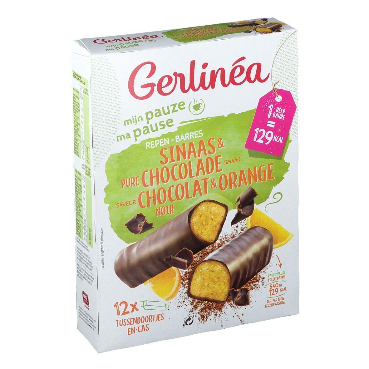 Gerlinéa Ma Pause Barres Orange & Chocolat Noir - shop ...
