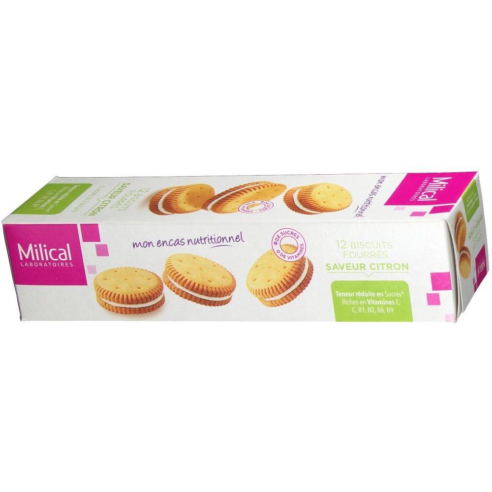 Milical Nutrition biscuits fourrés citron - shop-pharmacie.fr