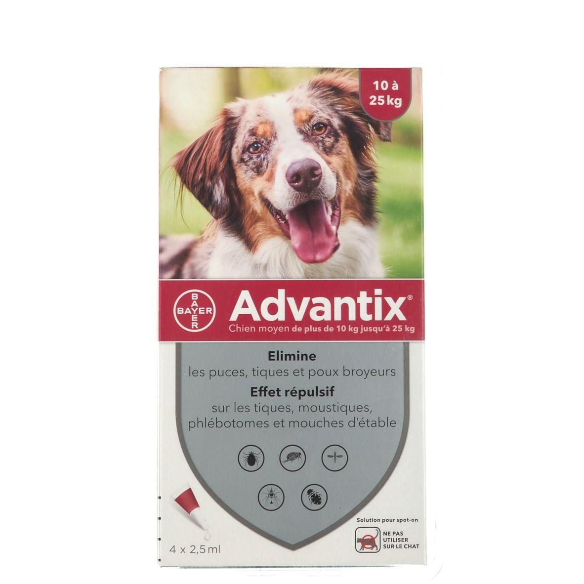 Image of Advantix Chien moyen de 10 kg - 25 kg