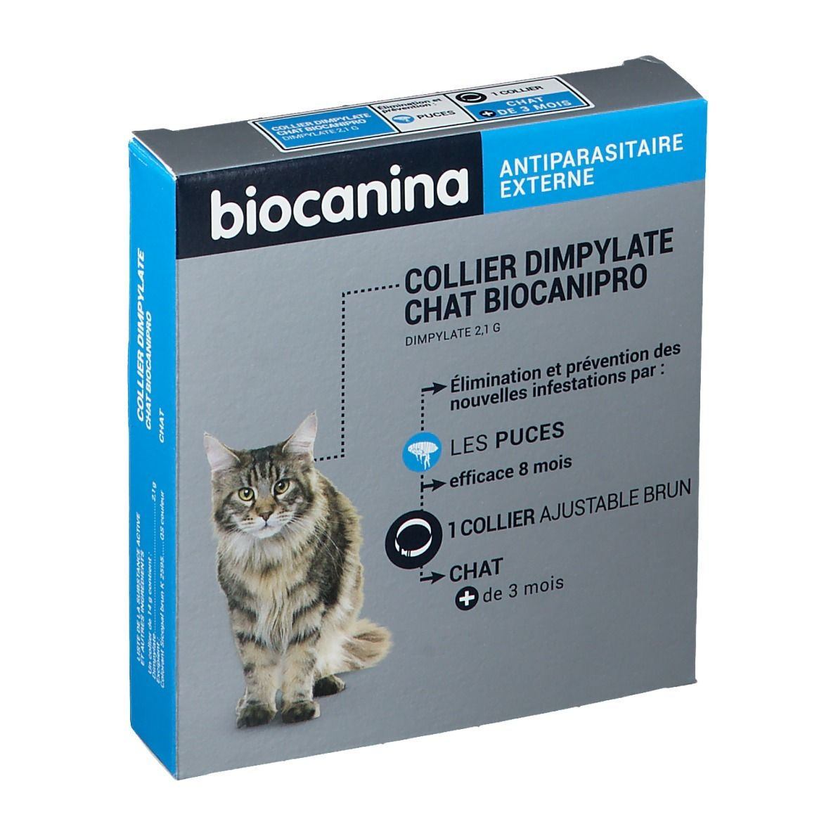 Image of Biocanina Collier insecticide Biocanipro pour chat