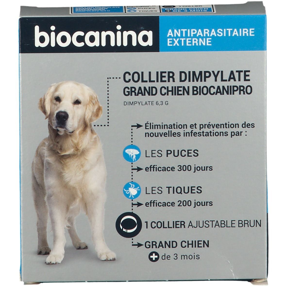 Image of Biocanina Collier insecticide Biocanipro pour grand chien