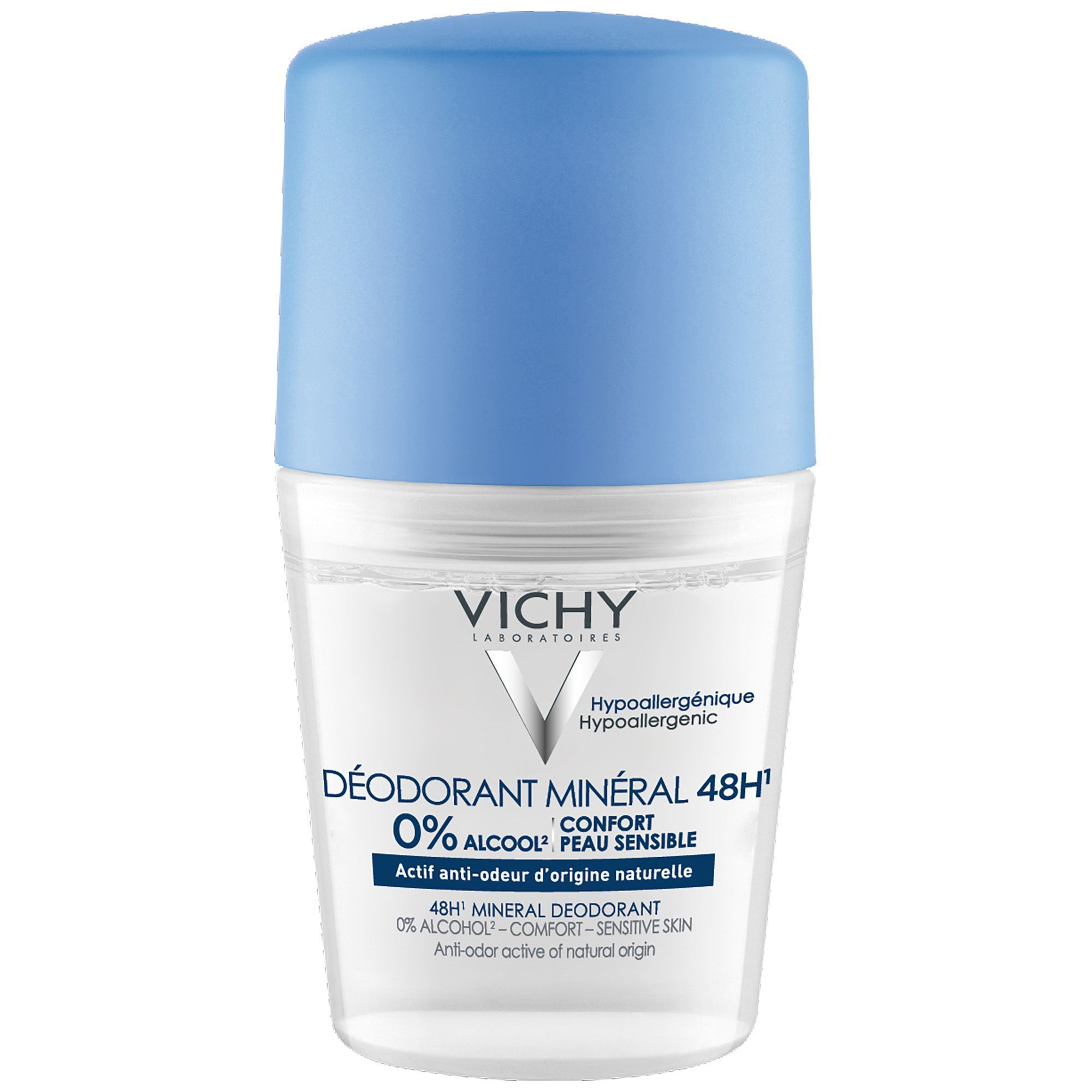 Vichy Déodorant Minéral - Sans sels d'aluminium Roll-on