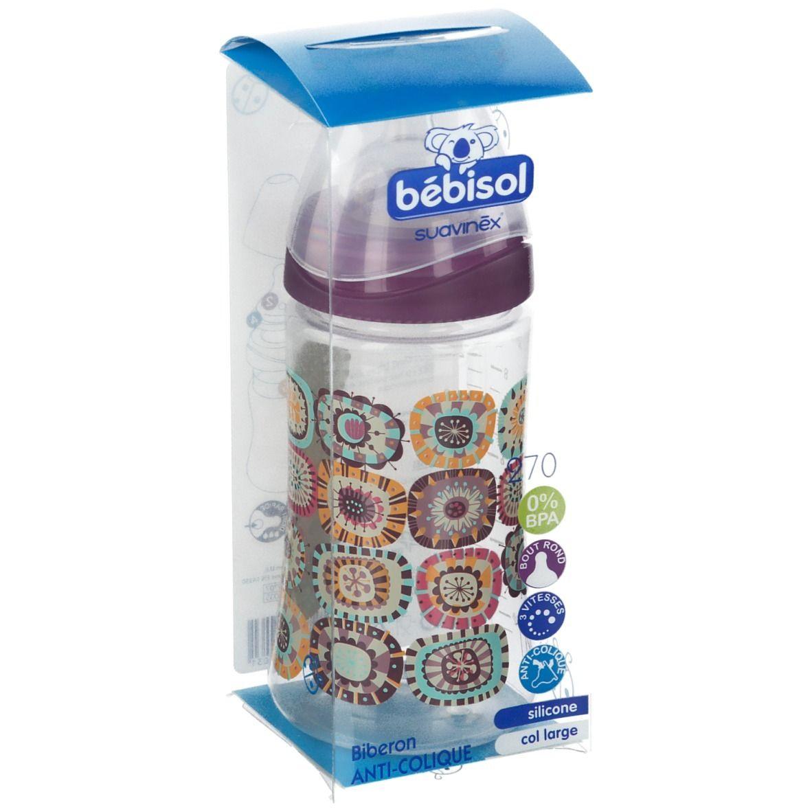 bébisol suavinéx® biberon anti-colique 270 ml (Couleur non sélectionnable)