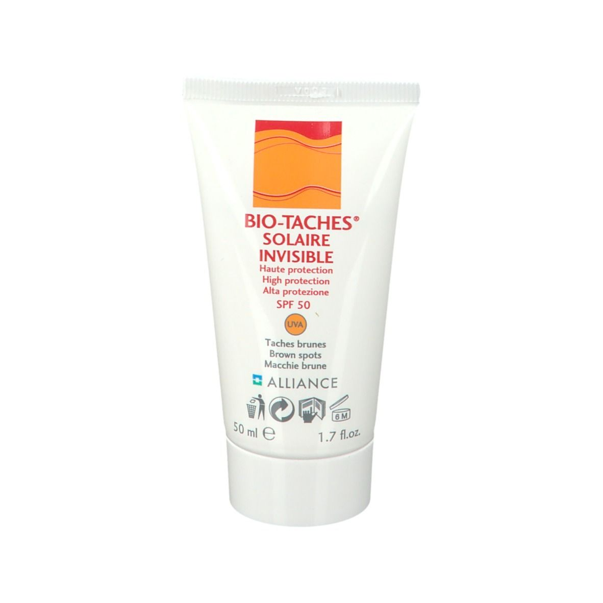 Afbeelding van Bio-Taches® Solaire Invisible Crème solaire SPF 50