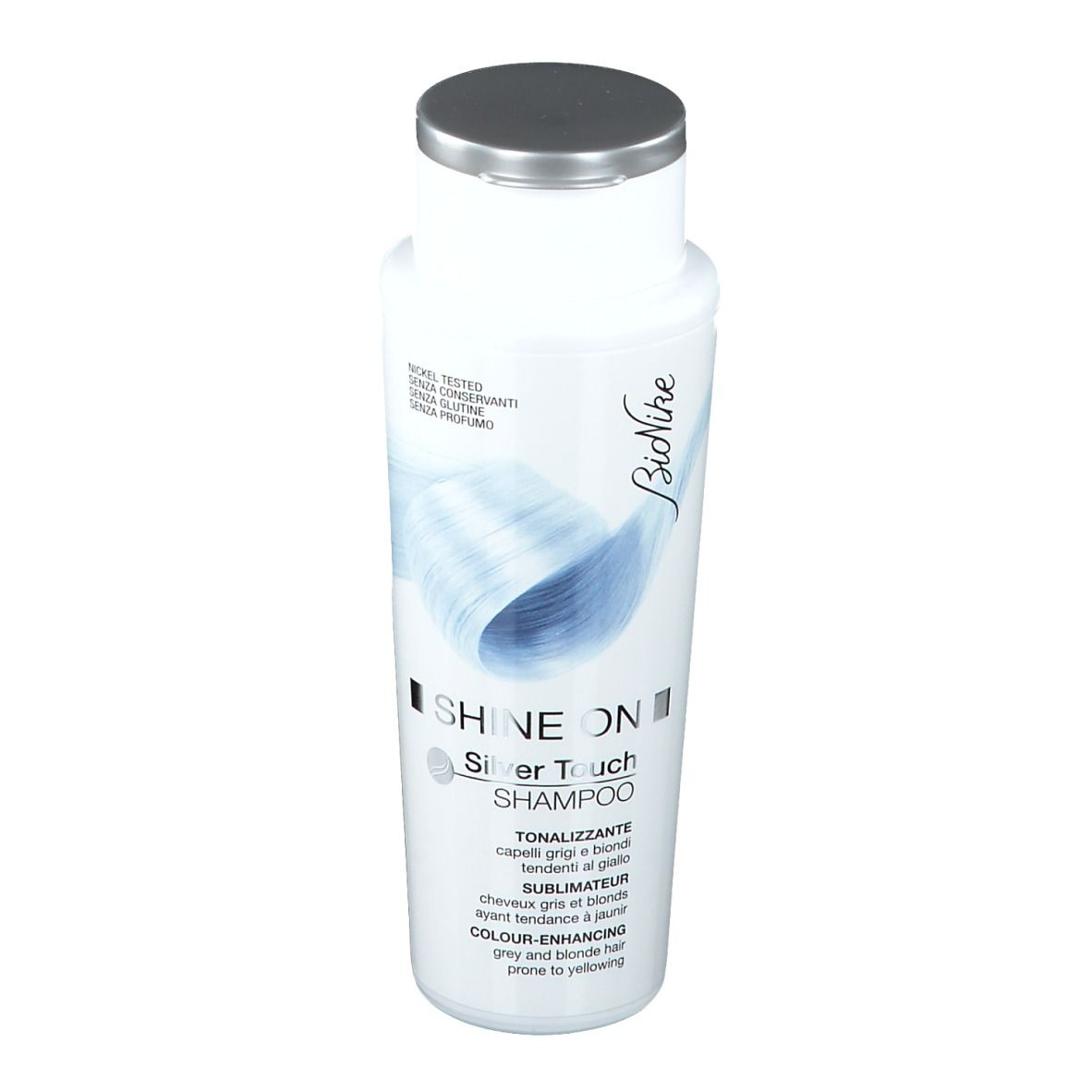 BioNike Shine ON Silver Touch Shampoing publicateur