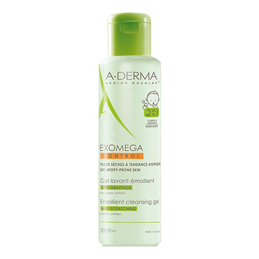 DERMA EXOMEGA CONTROL Gel lavant émollient corps et cheveux, 2 en 1