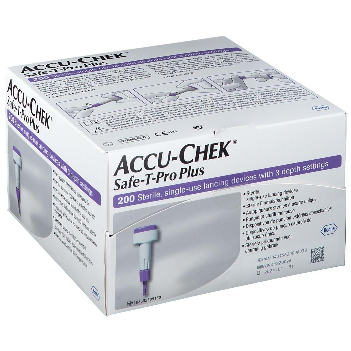 ACCU-CHEK® Safe T Pro Plus Usage unique