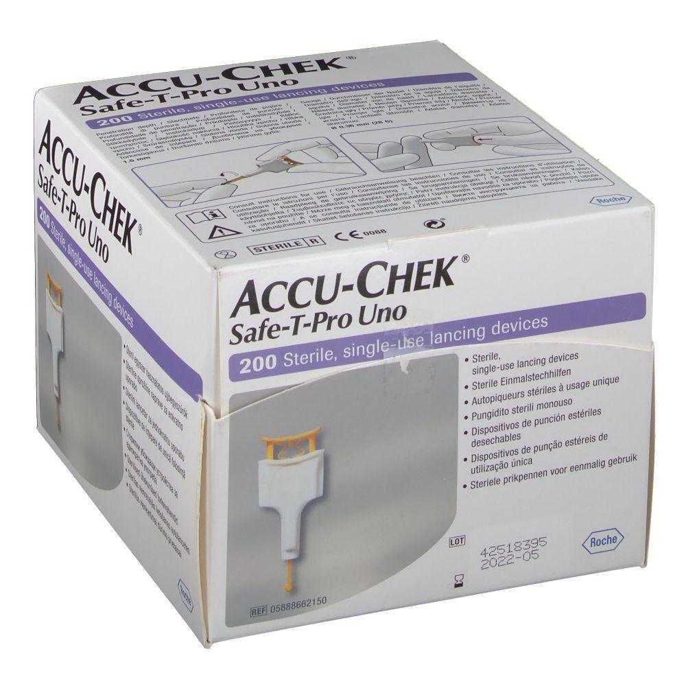 Accu-Chek® Safe-T-Pro Uno Autopiqueurs stériles à usage unique