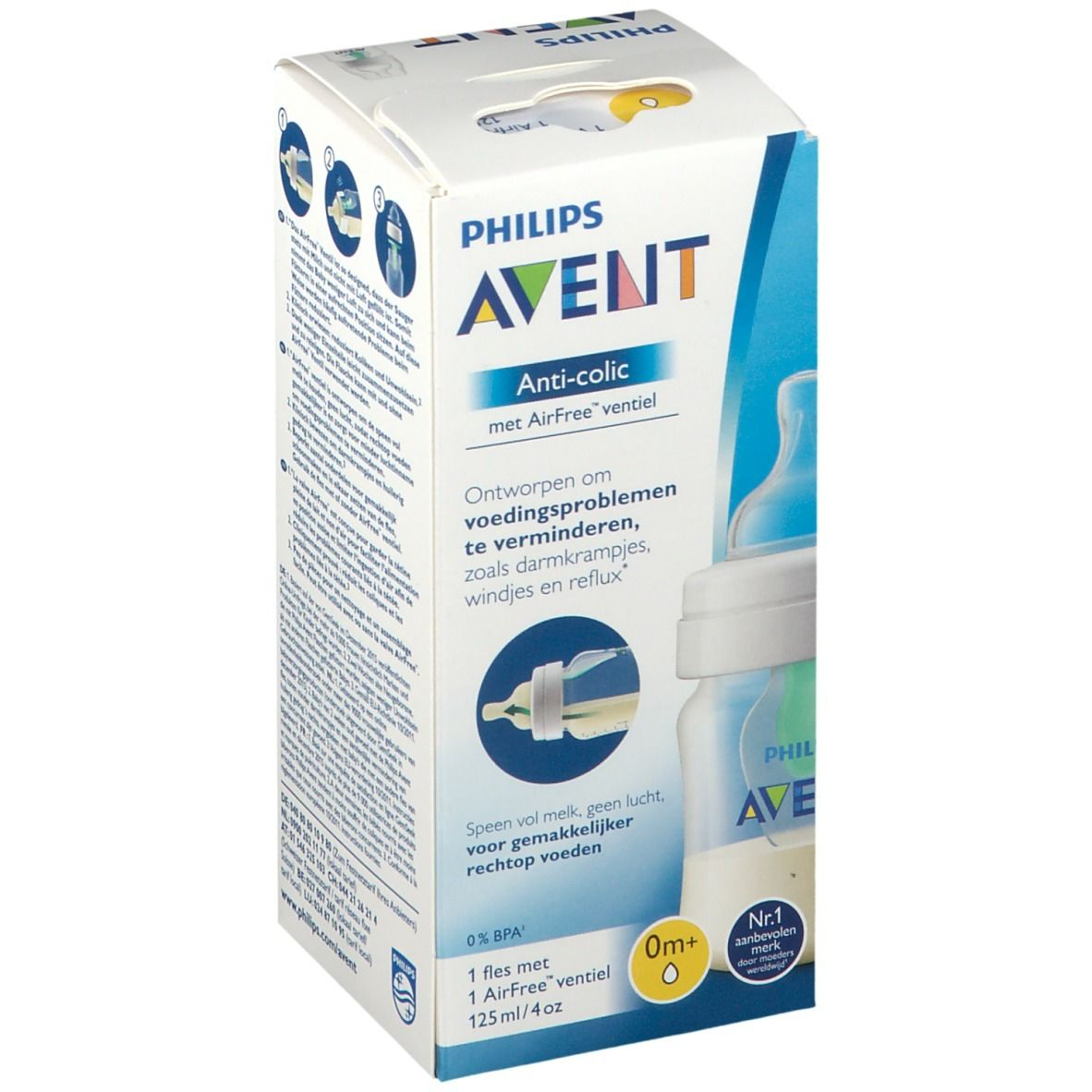 AVENT Biberon Anti-colic 125 ml 0+ mois
