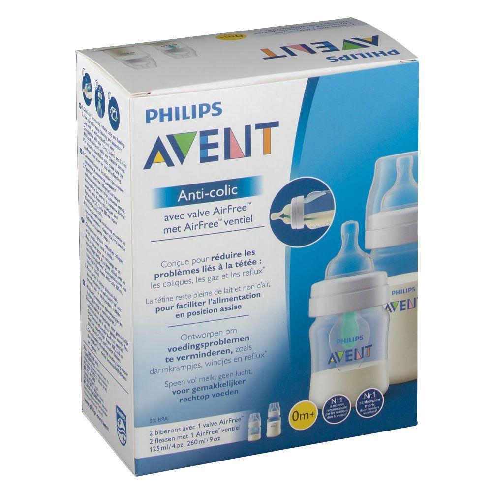 AVENT Biberon Anti-colic 125 ml + 260 ml 0+ mois