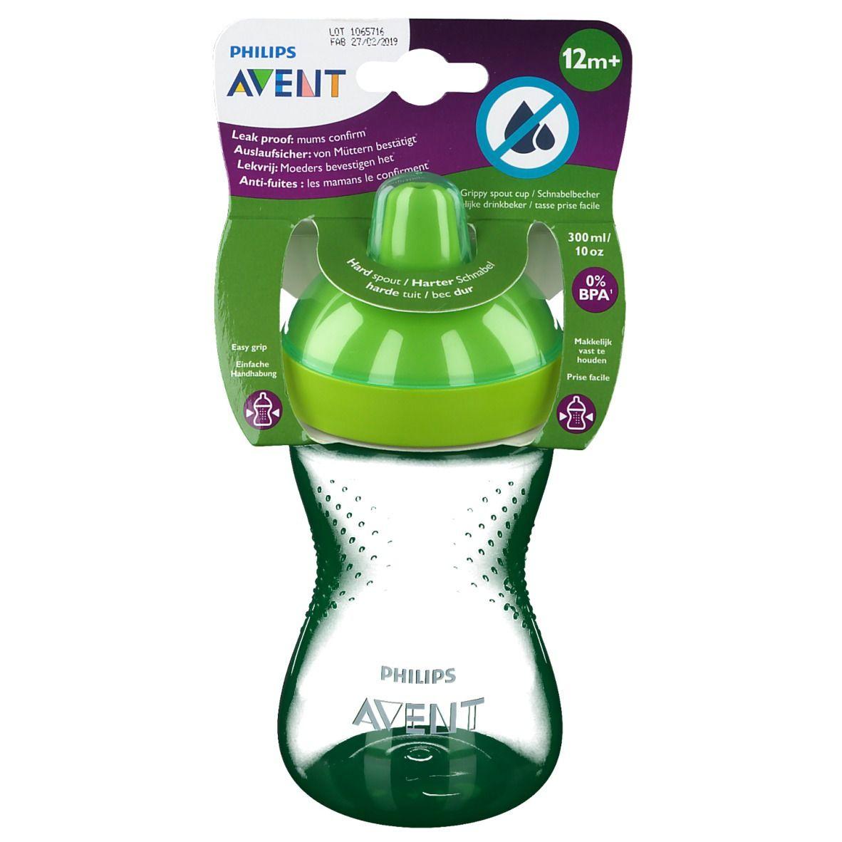 Avent Tasse à bec dur Vert 300 ml +12 mois