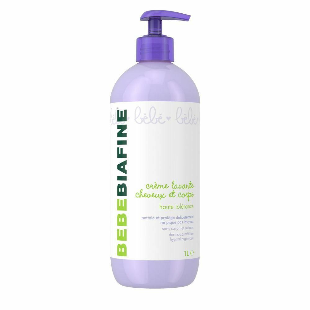 Bebe biafine Crème lavante cheveux et corps 1 L