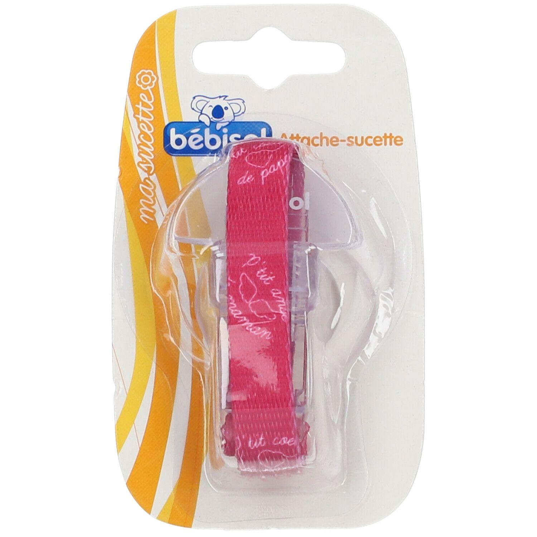 Bébisol attache sucette tissu avec anneau souple (Couleur non sélectionnable)