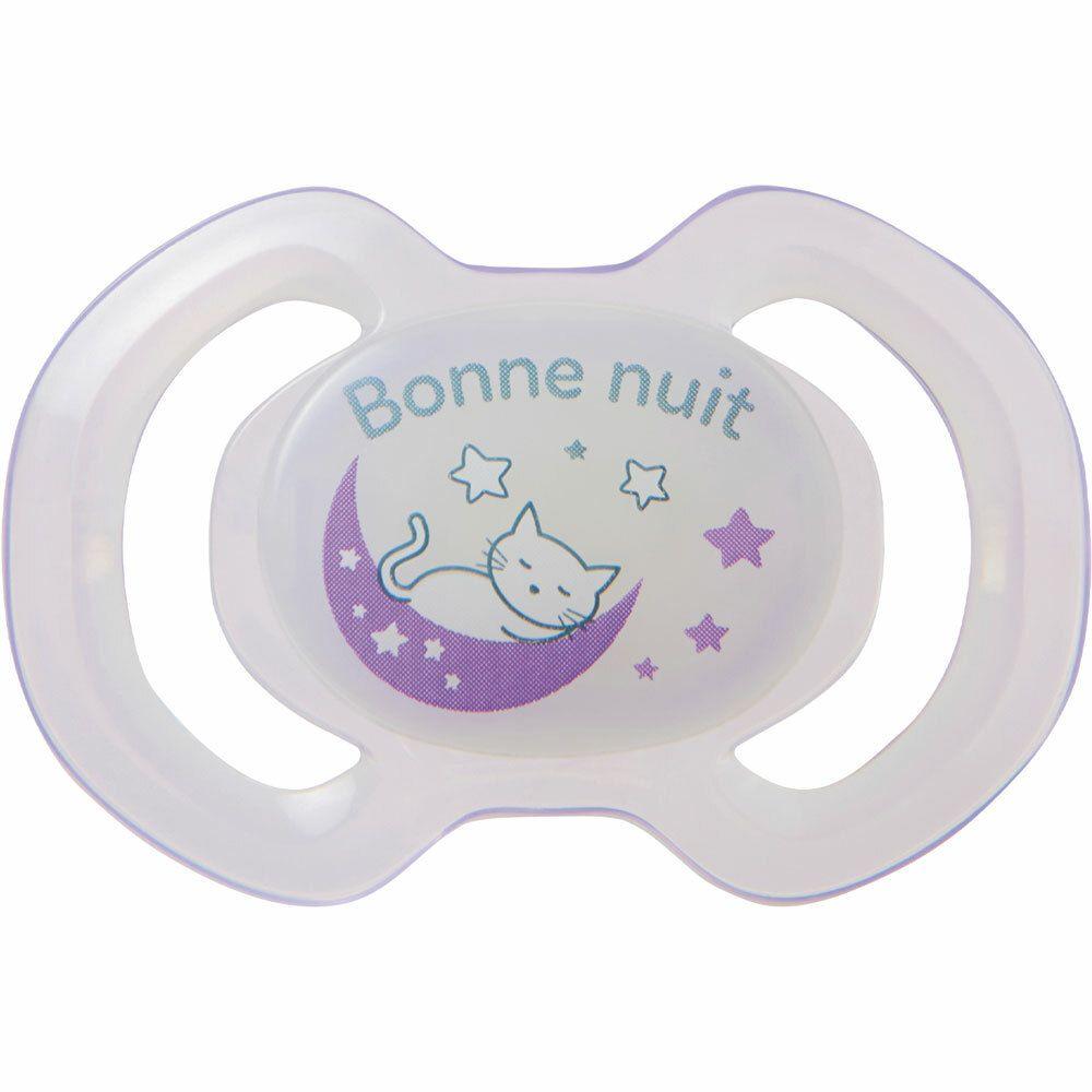 bébisol Sucette nuit Réversible silicone -6 mois (Couleur non sélectionnable)