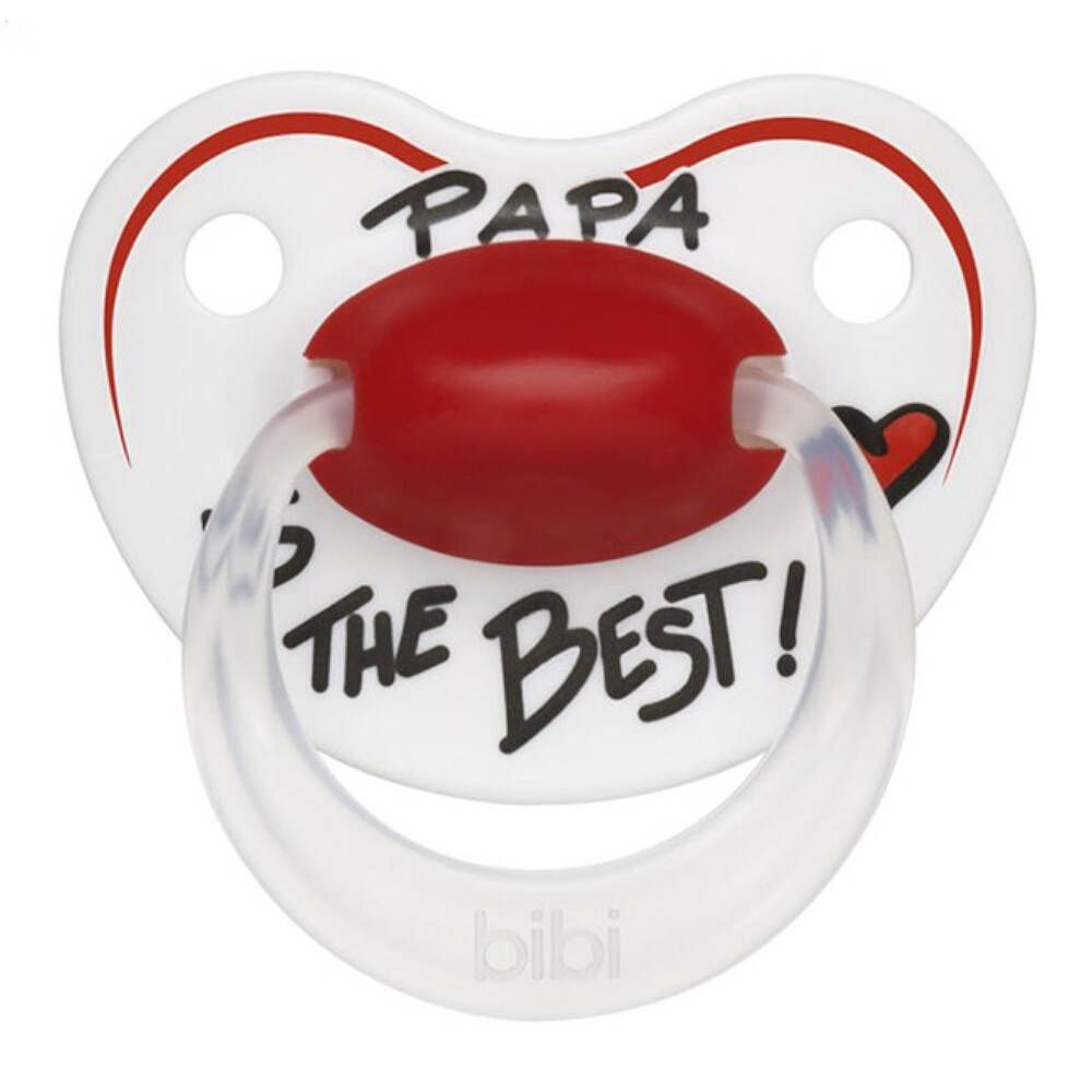 bibi® Happiness Sucette orthodontique Papa Is The Best 6-16 Mois