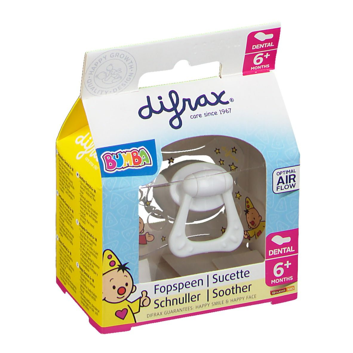 Difrax Dental Sucette Bumba +6 Mois