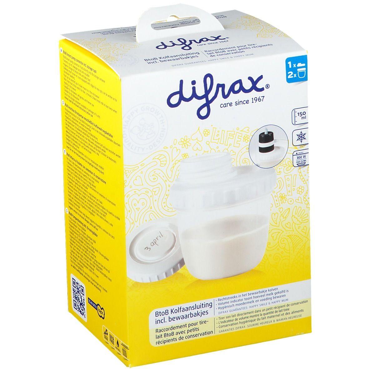 Difrax Raccordement pour tire-lait avec petit récipient de conservation