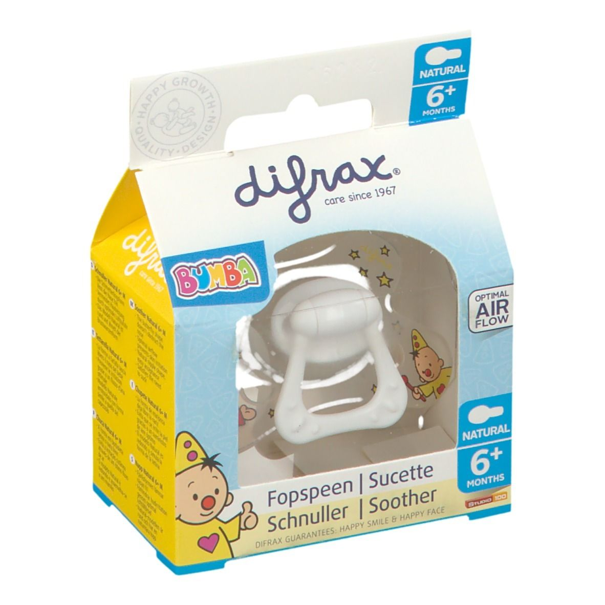 Difrax Sucette Natural Bumba 6+ Mois