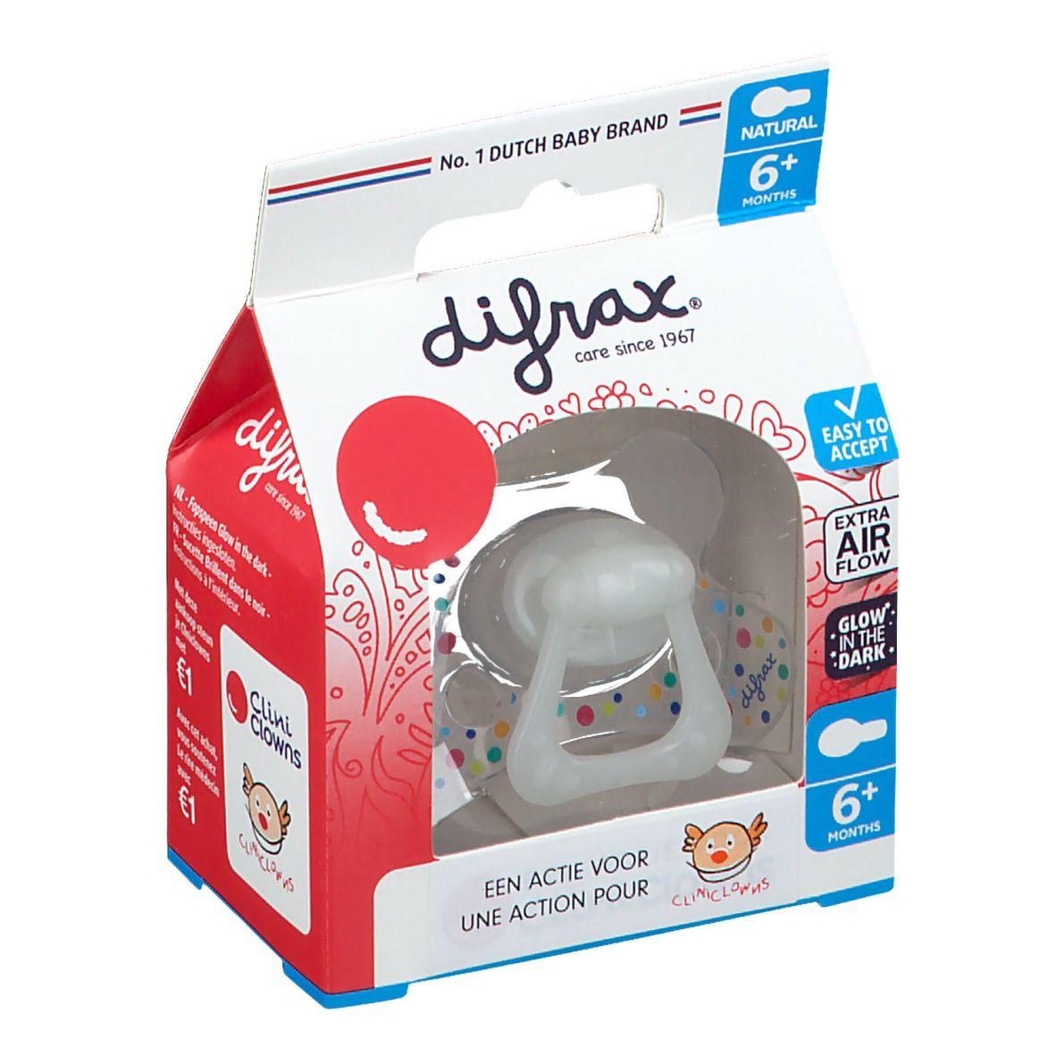 Difrax Sucette Natural Cliniclowns +6 Mois (Couleur non sélectionnable)