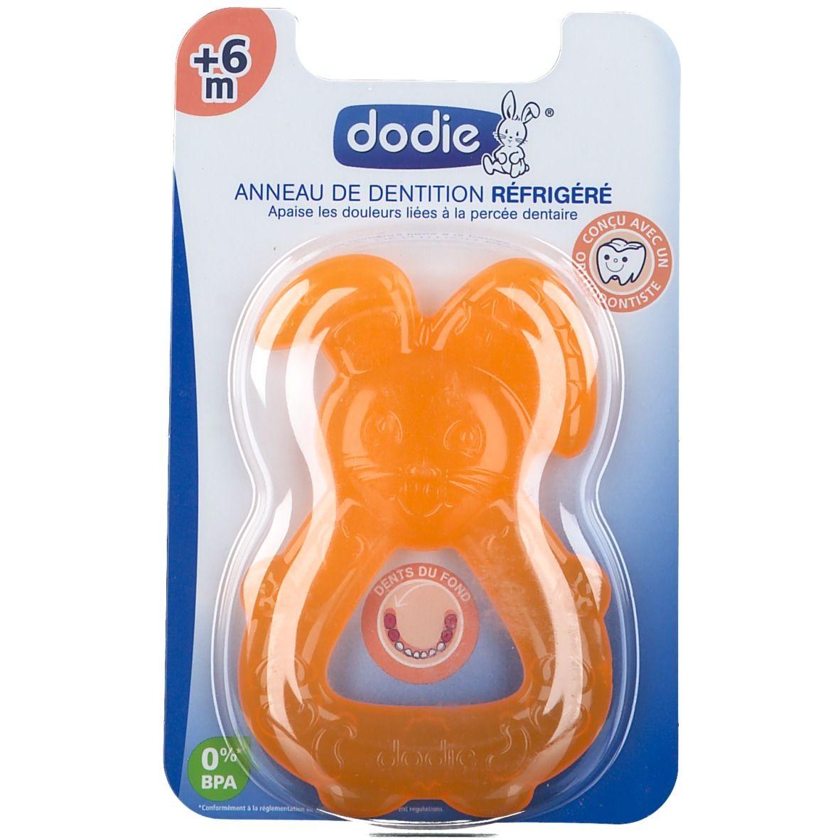 dodie® Anneau de dentition réfrigéré Orange +6 Mois