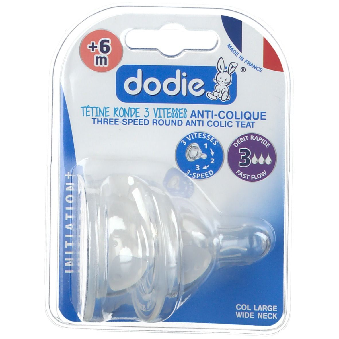 Dodie Evolution+ tétine en silicone débit 3