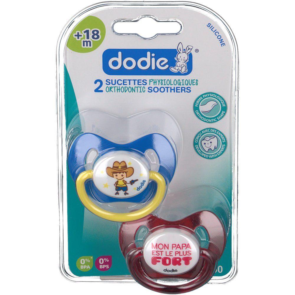 dodie® sucette anatomique silicone +18 mois (Couleur non sélectionnable)