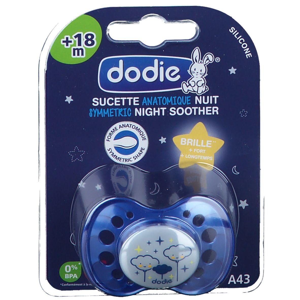 dodie® sucette anatomique silicone nuit +18 mois (Couleur non sélectionnable)