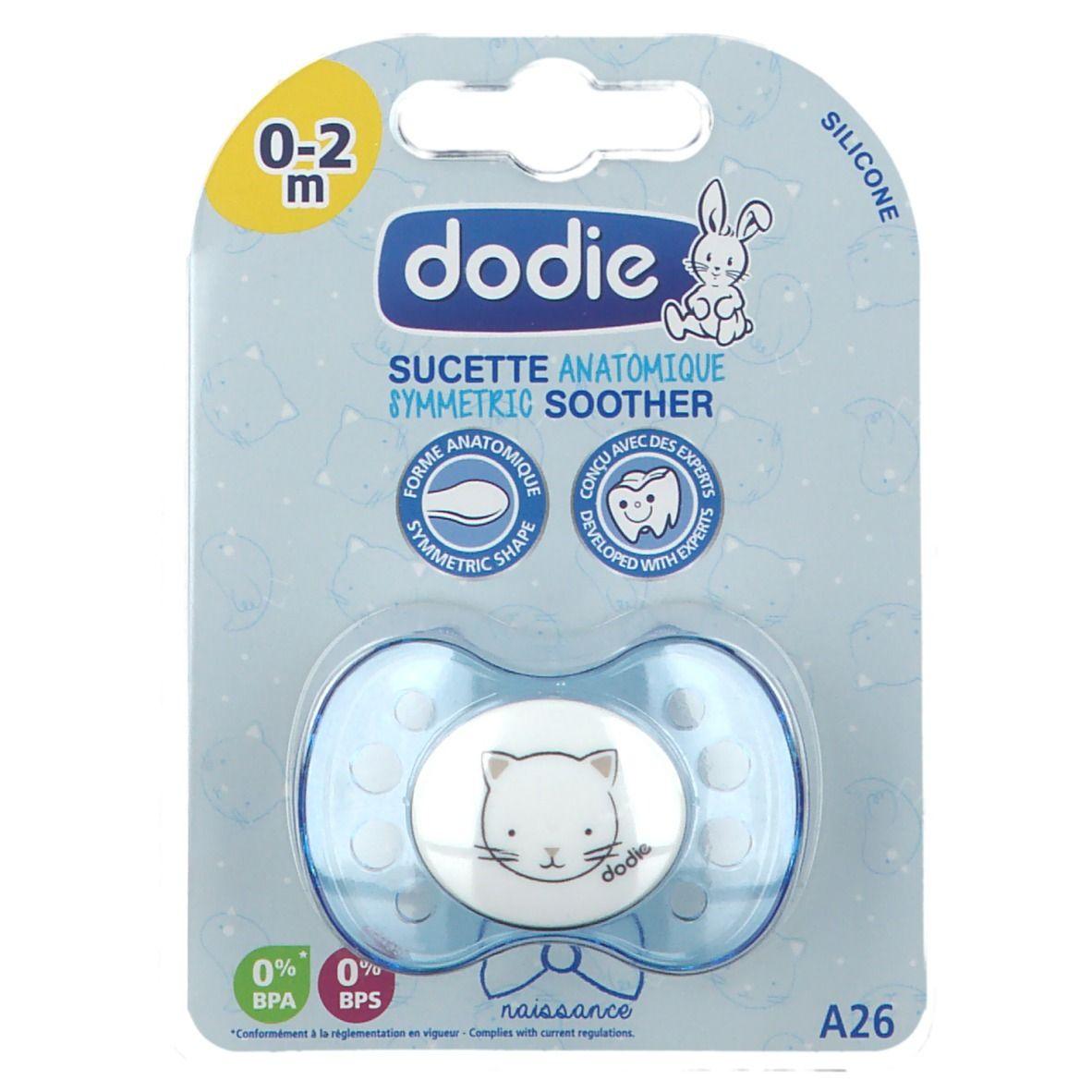 dodie® Sucette nouveau-ne silicone Motiv coeur Bleu