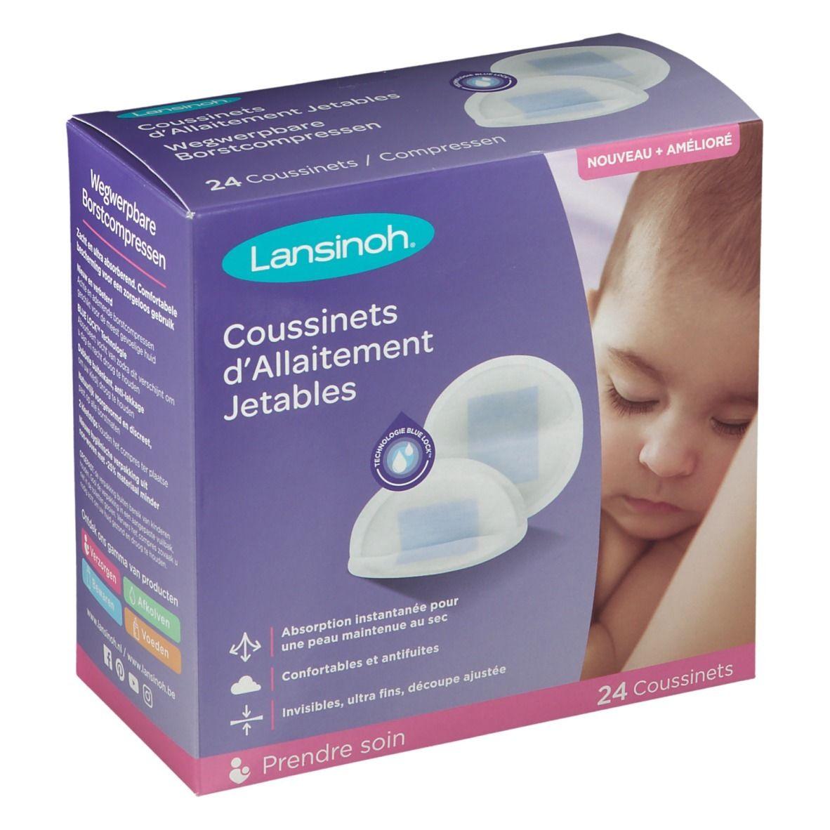Lansinoh® Coussinets d'allaitement jetables Blue Lock®