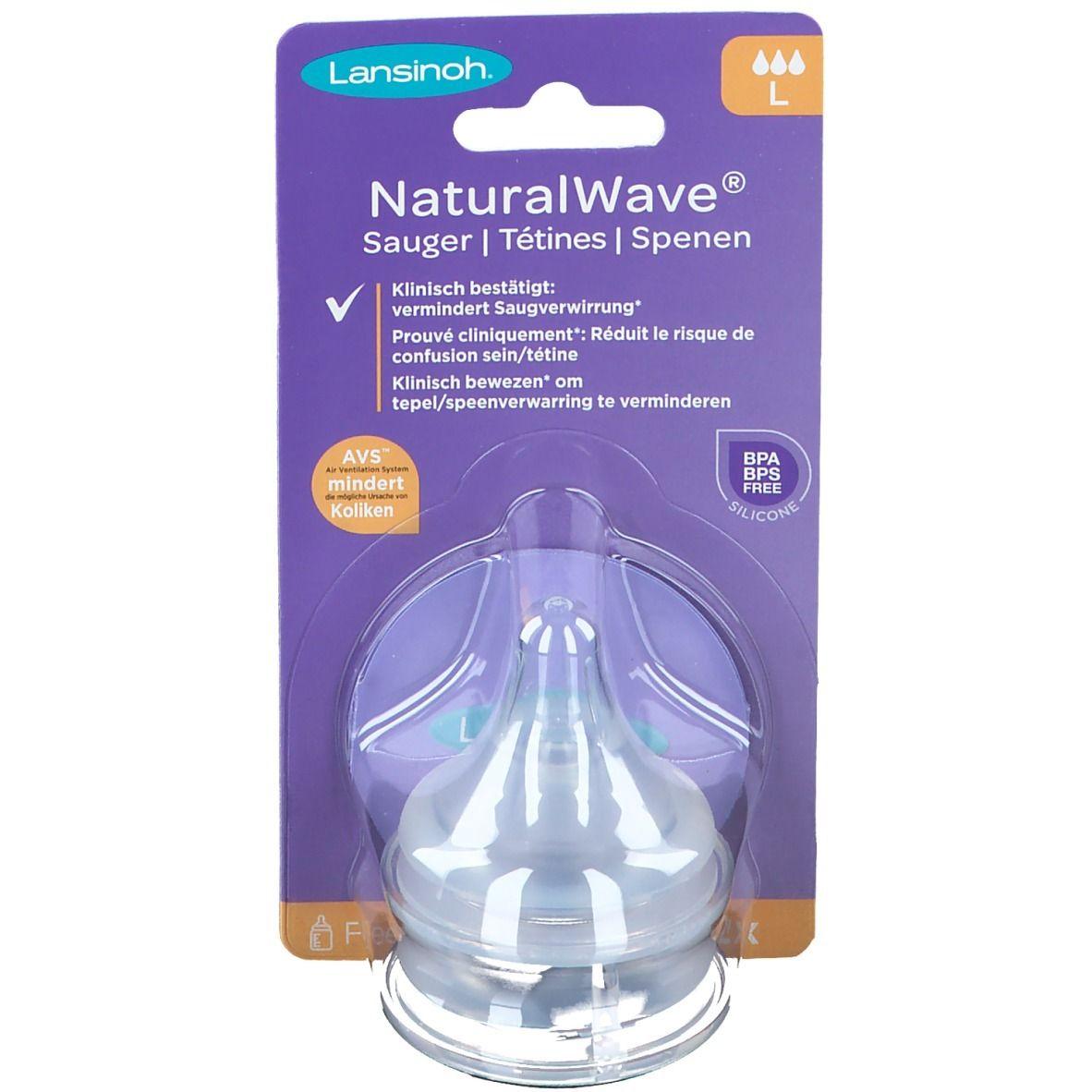 Lansinoh NaturalWave® Lot de 2 tétines péristaltiques débit rapide