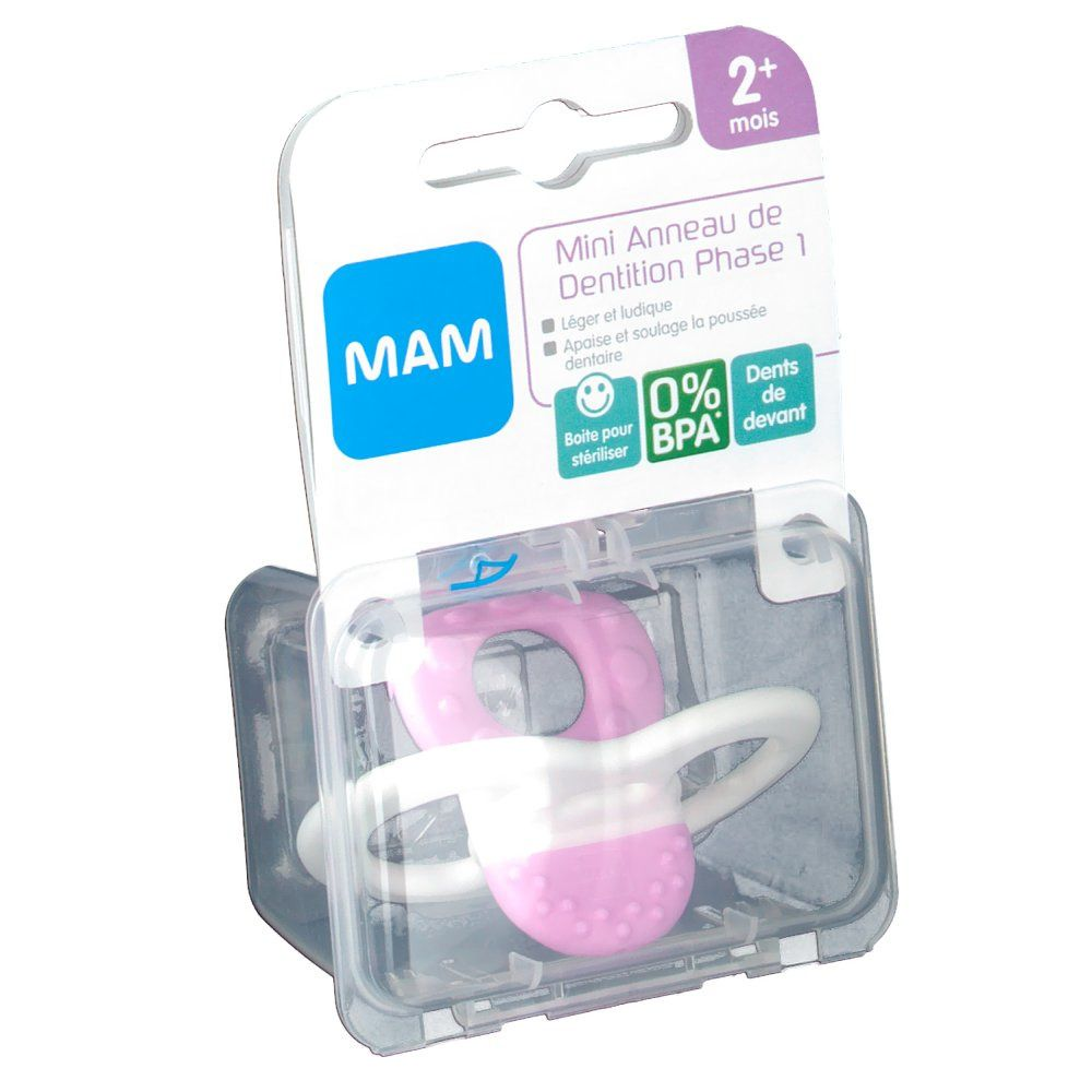 MAM Mini-anneau de dentition - Phase 1 (Couleur non sélectionnable)