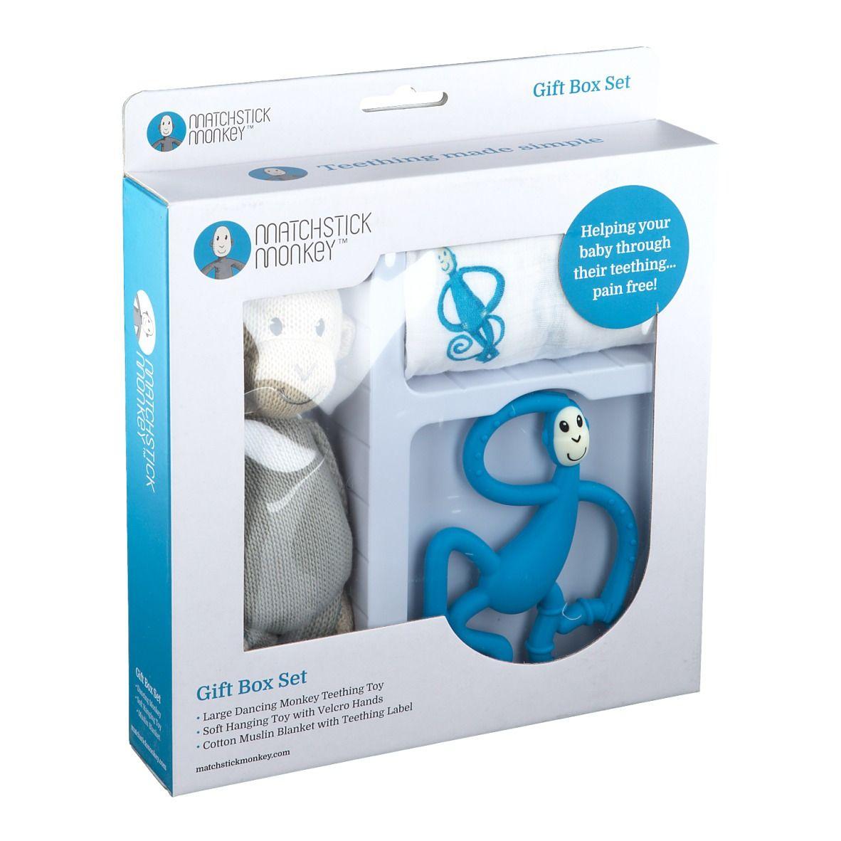Matchstick Monkey Coffret de dentition Bleu