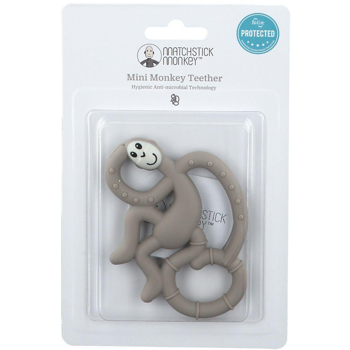 Matchstick Monkey Mini Jouet de dentition Gris