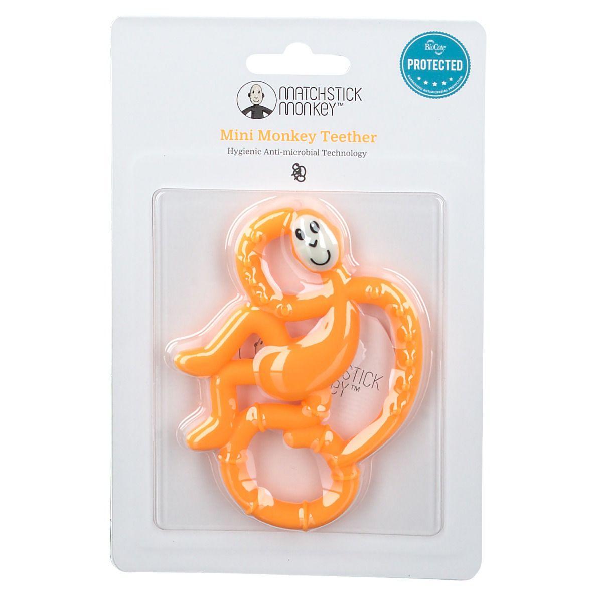 Matchstick Monkey Mini Jouet de dentition Orange