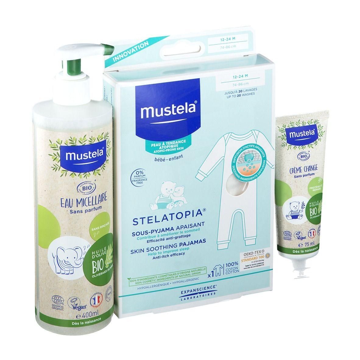 Mustela® Crème Change, Bio Eau Micellaire et Pyjama 12-24 mois