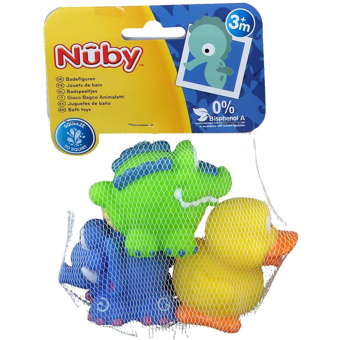 Nûby Jouets de bain Fun Squirters™ Canard - Crocodile -Eléphant 4 mois