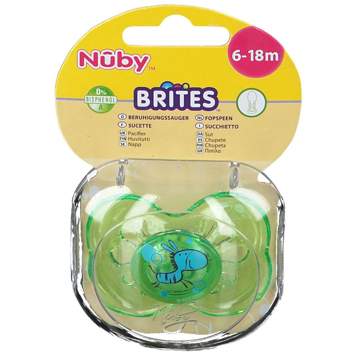 Nuby Sucette Brites™ Ovale classique - 6-18 m (Couleur non sélectionnable)