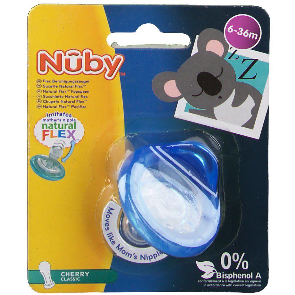 Nuby™ Sucette Natural Flex™ Cerise 6-36 mois