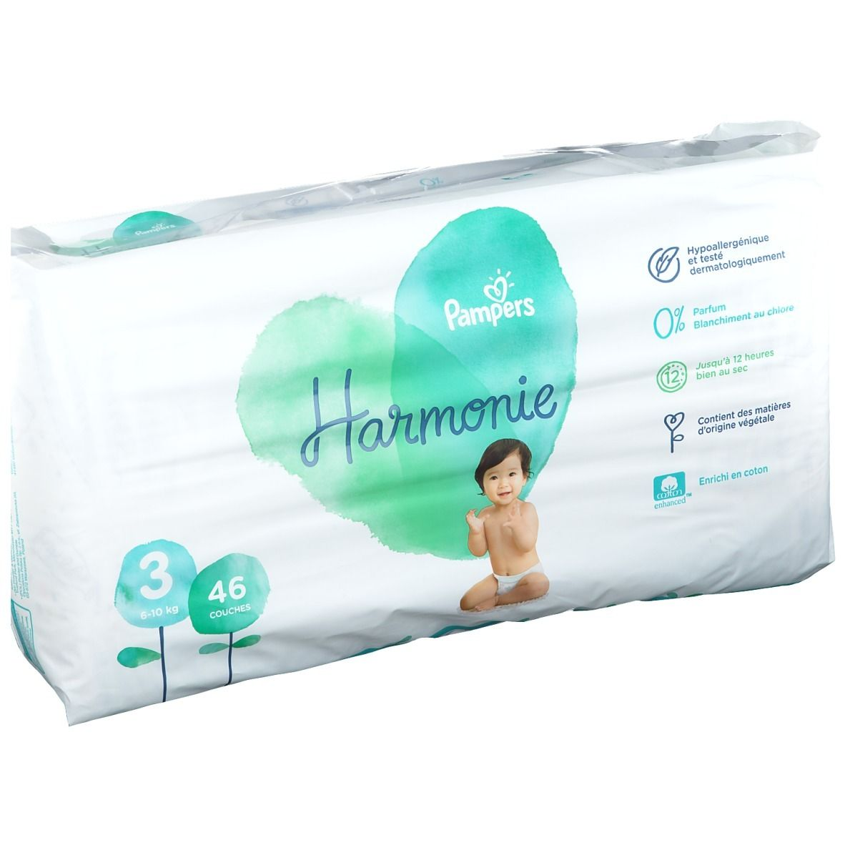 Pampers Harmonie Couches Taille 3 6-12 kg
