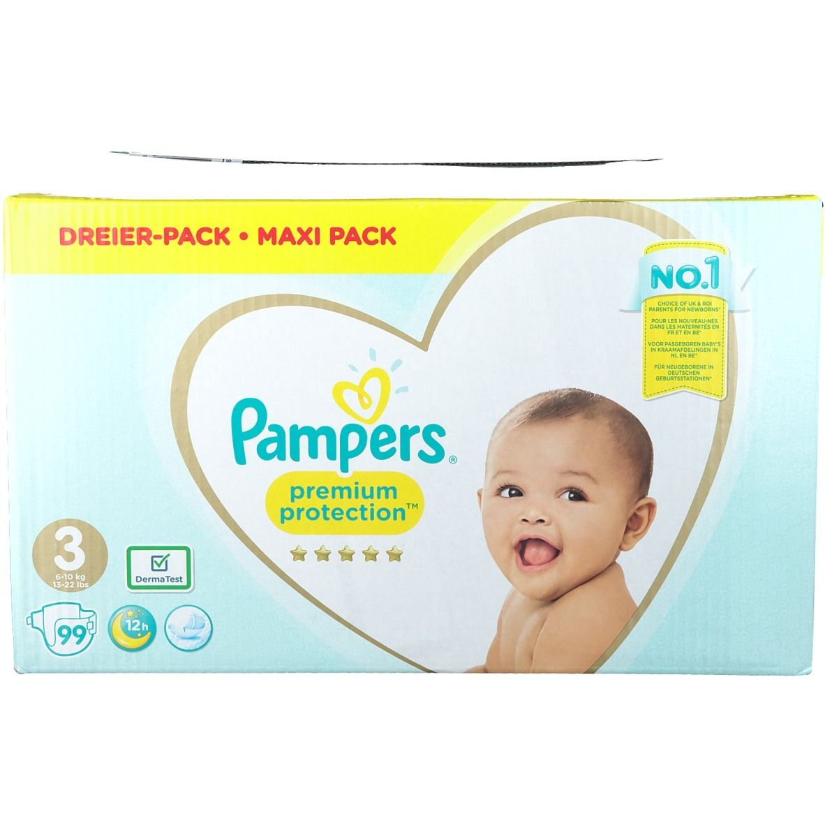 Pampers Premium Protection Taille 3, 6-10 kg, Couches