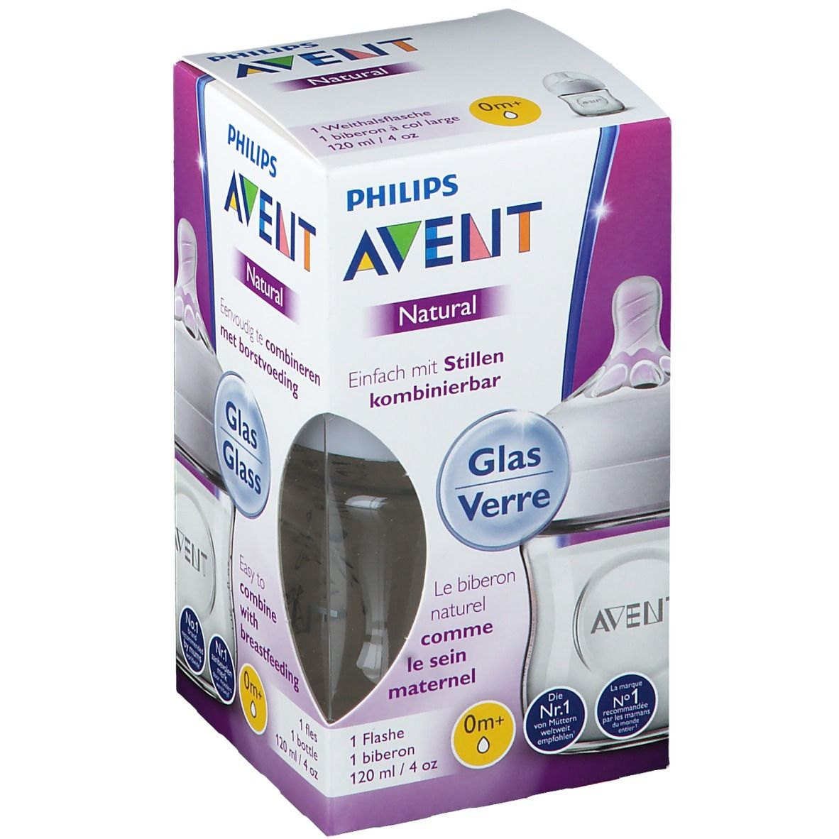 Philips AVENT Biberon en verre natural 120 ml