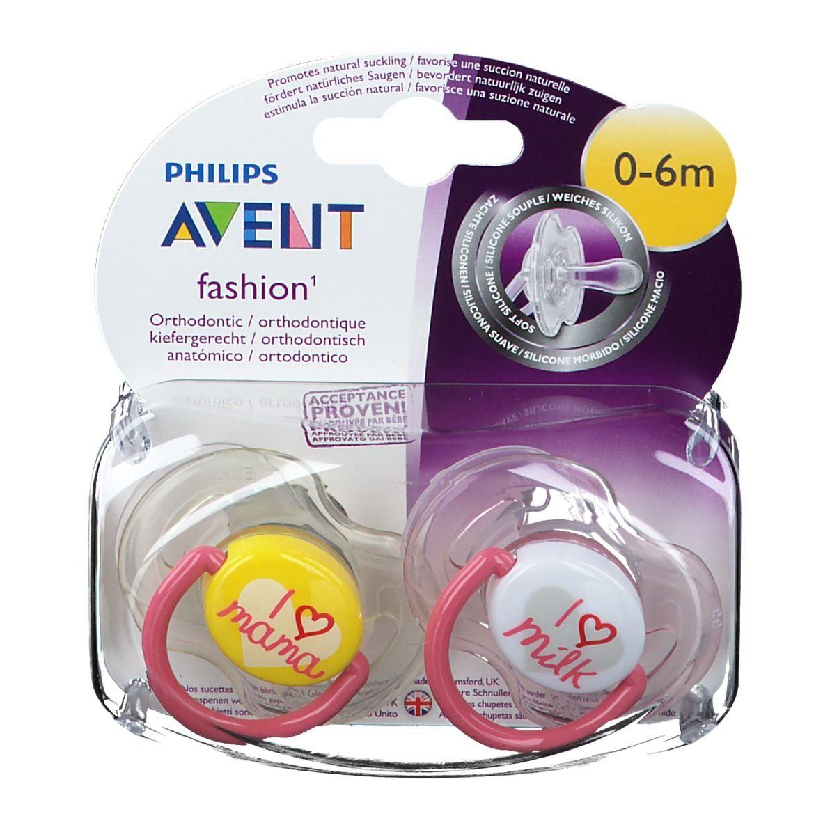 Philips Avent Fashion Sucettes 0-6 mois x2