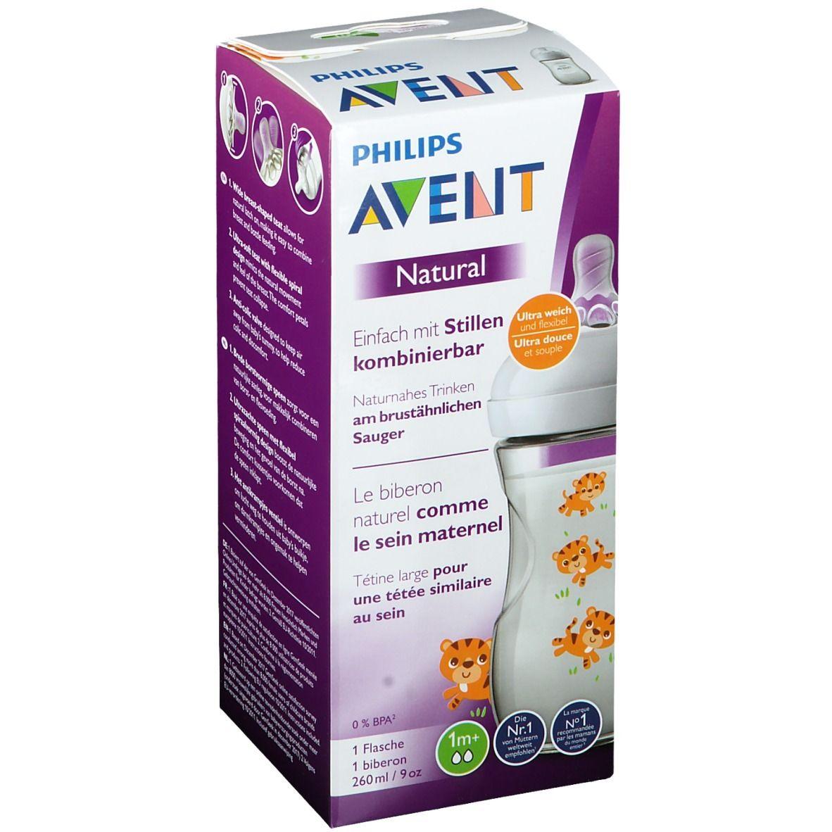 Philips AVENT Natural Biberon naturel tigre 260 ml