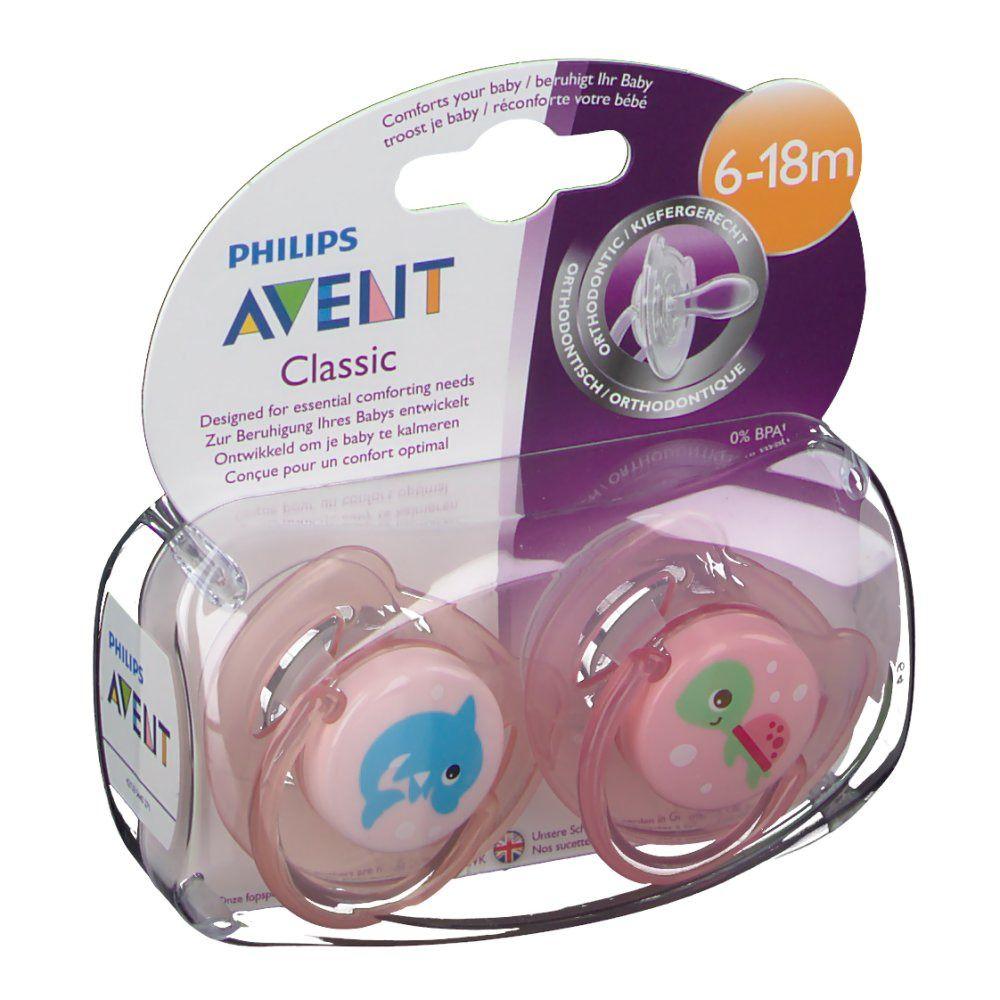 Philips AVENT Sucette classic orthodontique 6-18 mois