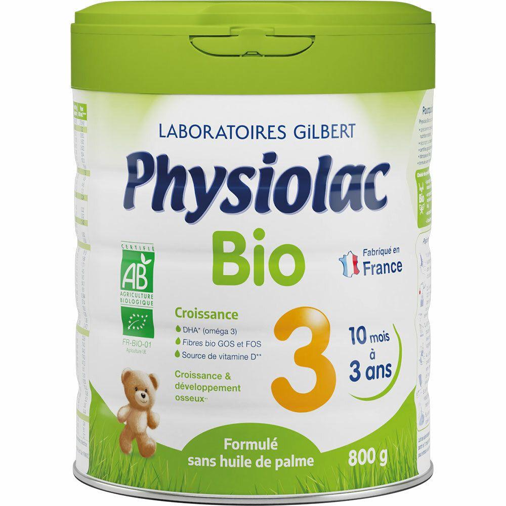 Physiolac Bio 3 Croissance Lait en Poudre