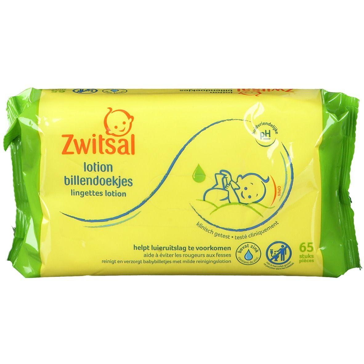 Zwitsal Lingettes lotion bébé